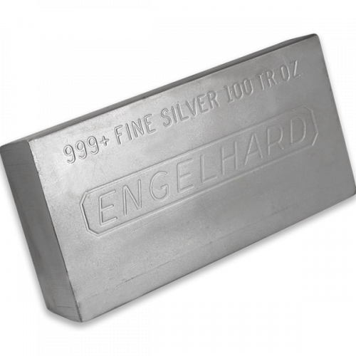 100oz Engelhard Silver Bar