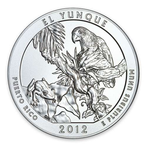 2012 5 oz Silver Silver America the Beautiful El Yunque National Park