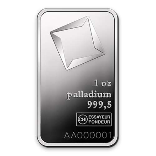1oz Valcambi Palladium Minted Bar