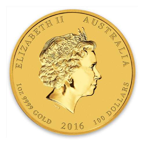 2016 1oz Australian Perth Mint Gold Lunar II: Year of the Monkey